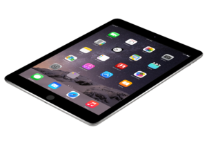iPad tablet with apps